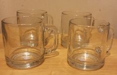 Set of 4 Glass #coffee mugs visit our ebay store at  http://stores.ebay.com/esquirestore