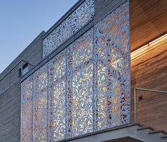 Laser Cut Metal Screen Laser cut screens create mystique and mystery and cast alluring shadows as the light changes.