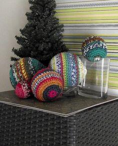 #Crocheted #Christmas ornaments #decor #bemorefestive @Penn Foster