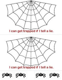 FHE on being honest. The spiderweb might make this fun for an October FHE. Fhe Lessons, Primary Lessons, Object Lessons, Respect Lessons, Primary Games, Family Home Evening Lessons, Sunday School Lessons, Sunday School Crafts, Church Activities