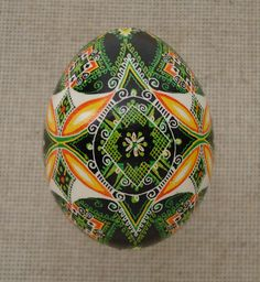 Pysanka Pysanky from Ukraine Chicken Easter Egg by Oleh. $25.00, via Etsy.