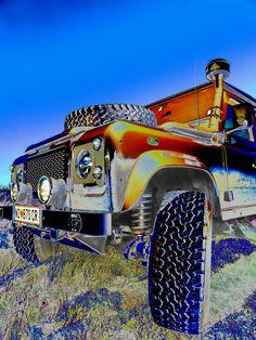Defender 130 Pick UP Defender 130, My Land, Antique Cars, Monster Trucks, Art, Vintage Cars, Art Background, Kunst, Performing Arts