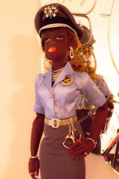"Boudoir Doll OOAK Officer Beverly 25"" Cloth AA Smoker Lady Art Doll Gayle Wray http://www.gaylewraydolls.com/"