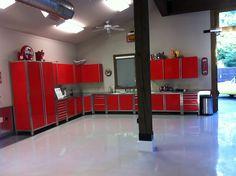 Vault Professional Series Garage Cabinets. #garage #garagecabinets #red…