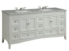 Adelina 72 inch Double Sink Bathroom Vanity White Finish