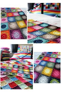 Gosh, has it been a week already since I last said hello? I& so pleased to see so many lovely new faces popping in to have a look-see. Easy Crochet Blanket, Crochet Granny, Knitted Blankets, Crochet Stitches, Crochet Patterns, Crochet Afghans, Crochet Ideas, Crochet Storage, Crochet Projects