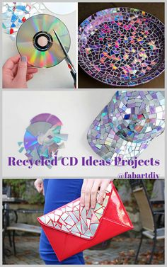 before dumping out all of your old CDs into trash can, get inspiration from these amazing DIY ideas to recycle your old CDs into something new and cool. Recycled Cd Crafts, Old Cd Crafts, Recycled Art Projects, Diy Arts And Crafts, Cd Recycle, Upcycle, Cd Project, Peacock Crafts, Diy Wood Stain