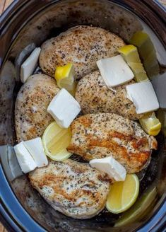 The easiest, creamiest, slow cooker lemon chicken.