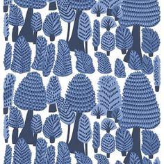Marimekko Metsänväki Meterware blau