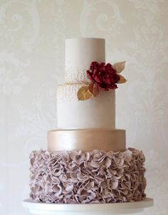 Wedding cake idea; Featured Cake: Curtis and Co Cakes