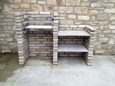 Our home-made stone brick barbeque!
