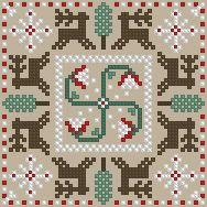 The Floss Box | Biscornu 481 Pdf pattern