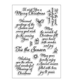 Shop for Stampendous 'Tis The Season' Perfectly Clear Stamps . Get free delivery On EVERYTHING* Overstock - Your Online Scrapbooking Shop! Get in rewards with Club O! Christmas Card Verses, Christmas Sentiments, Christmas Words, Card Sentiments, Christmas Quotes, Christmas Ideas, Christmas Blessings, Christmas Images, Xmas Cards