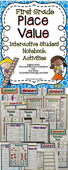 Place Value Interactive Notebook Activities - Teach your first grade students all about this important math skill with these fun and engaging activities from Teachers Pay Teachers. Click here to download this amazing supplemental classroom resource. #firstgrade #placevalue #tpt