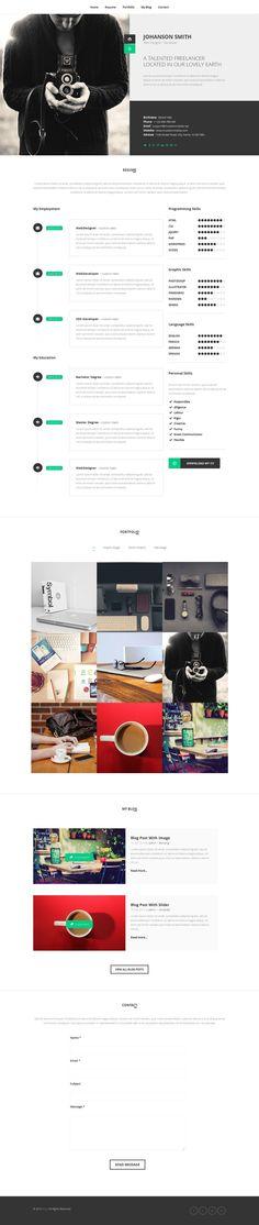 Buy NEW Retina Ready WordPress Vcard Theme by mutationthemes on ThemeForest. Updated version, single page portfolio added with navigation true all portfolio projects.
