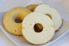 Healthified Bagels- used coconut flour & has 8g of protein per serving! I would swap some eggs for egg whites to lower the fat content :)