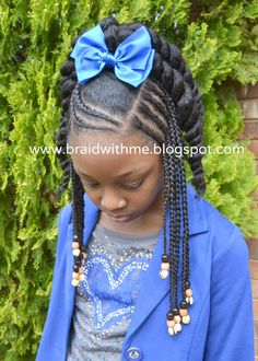 Braid with Me: Natural Hair for Tweens - minus the bow