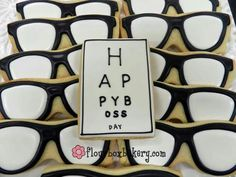 Eyeglasses cookies by flourboxbakery