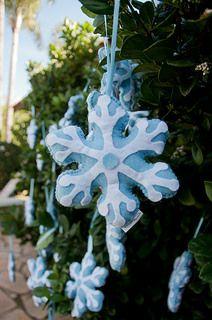 Flocos de Neve em Feltro