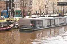 Private Studio Houseboat *BEST VIEW* @ Amstel - Houseboats for Rent in Watergraafsmeer, North Holland, Netherlands Houseboat Amsterdam, Houseboat Rentals, Amsterdam Apartment, Private Room, Bed And Breakfast, Nice View, Condo, Houseboats, Vacation