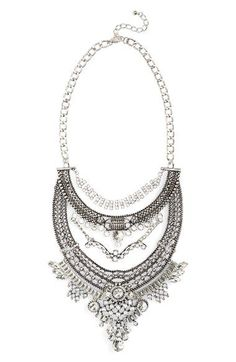 Leith Oversize Crystal Drop Statement Necklace available at #Nordstrom