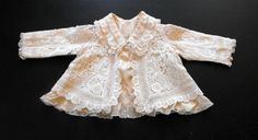 Antique English Baby's Handmade Lace Christening Jacket...the definition of Exquisite...