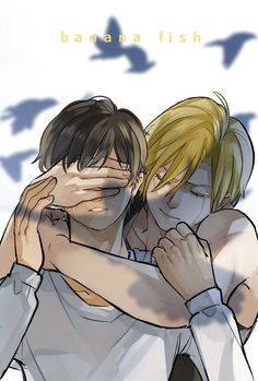 """Art by 小虫 ※ Permission to post was granted by the artist. Manhwa, Fanarts Anime, Manga Anime, Banana Art, Shounen Ai, Fish Art, Cute Gay, Anime Ships, Animation Film"