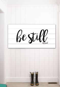 be still my soul fixer upper home decor gift for her farmhouse decor bible verse sign large canvas sign rustic home decor wall art decor - Large Home Decor