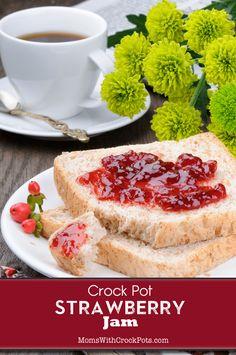 Crock Pot Strawberry Jam via @MomsWCrockpots