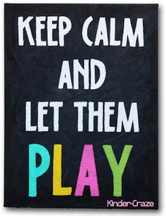 Keep Calm Painted Canvas Chalkboard Tutorial - Kinder-Craze
