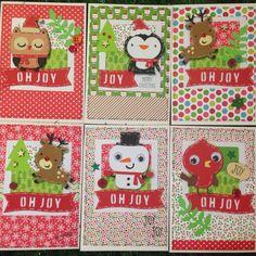 Christmas card doodlebug Santa express willow fox designs cricut create a critter 2 snowman reindeer owl Xmas card handmade