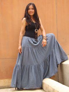 Long Skirt..Long Boho Skirt ....Long Maxi Skirt ..Full by Ablaa