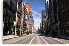 """""""Ginza"""" Canvas Print #decoration #prints #tokyo #gifts  Size: 30,5 cms x 20,3 cms Price: €70,20"""