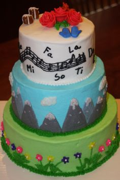 The Sound of Music inspired cake