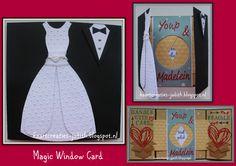 Magic Window Card...Huwelijk en Verhuizen in een kaart verwerkt.