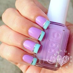 Pictures of french manicure nail art designs. French manicure nail art designs 2017 and Fancy Nails, Love Nails, Trendy Nails, My Nails, French Manicure Nails, Nails Polish, Nail Design Gold, Nails Design, Metallic Nails