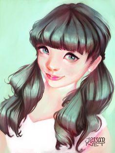 Color&hair study.  #illustration  #digitalart #ilustracion #ilustrador
