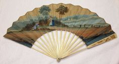 Rare Antique 18th Century English Folding Fan