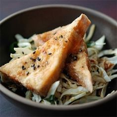 ... crispy fried vegan recipes crispy tofu fried tofu cabbage salad