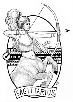 Who's Talking About Sagittarius Horoscope and Why You Need to Be Worried – Horoscopes & Astrology Zodiac Star Signs Sagittarius Tattoo Designs, Sagittarius Art, Zodiac Art, Astrology Zodiac, Art Sketches, Art Drawings, Zodiac Sign Tattoos, Zodiac Star Signs, Coloring Book Pages