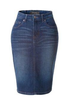 The Perfect Denim Skirt-DW (Petite) jupedeabby.com