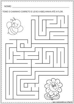Symmetry Worksheets, Tracing Worksheets, Preschool Worksheets, Learning Activities, Kids Learning, Activities For Kids, Maze Worksheet, Maze Puzzles, Mazes For Kids