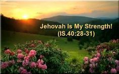 Jehovah is my strength...