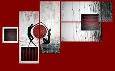 cuadros para living modernos simetricos