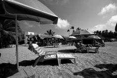 Chacala mexico. Beach heaven loungers