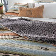 Painted Desert Ruffle Quilt Set Rustic Bedroom Design, Rustic Master Bedroom, Bedroom Designs, Types Of Furniture, Furniture Making, Bedroom Furniture, Twin Quilt, Quilt Bedding, Ruffle Quilt