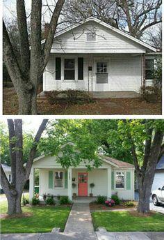 home remodel exterior curb appeal - Home & DIY Home Exterior Makeover, Exterior Remodel, Interior Exterior, Exterior Paint, Interior Design, Home Renovation, Home Remodeling, Small House Renovation, Pavillion