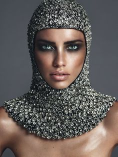 Adriana Lima by Mert & Marcus for Vogue Paris November 2014 -Now this is blending!!!