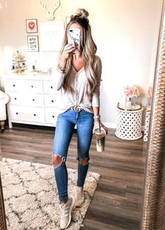 28 look good casual chic spring outfits 1 Fall Outfits 2018, Winter Outfits For School, Cute Spring Outfits, Fall Winter Outfits, Autumn Winter Fashion, Cool Outfits, Casual Outfits, Fall Fashion 2018, Summer Outfits Women 20s