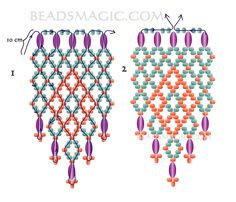 Free pattern for earrings Sunny Day - 2-----------U need:  rice beads  seed beads 11/0